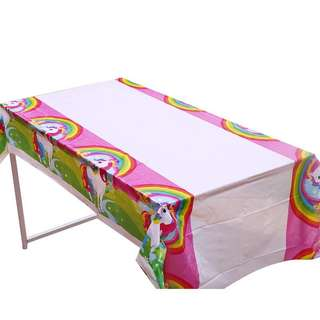 🌈 Unicorn party supplies - tablecloth/ table cloth / table cover