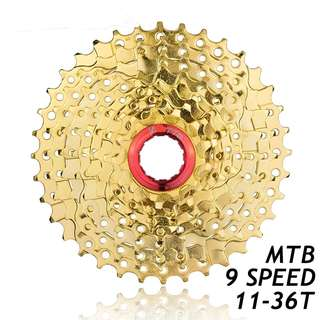 🆕! Gold 9 speed 11T - 36T MTB Cassette  #OK