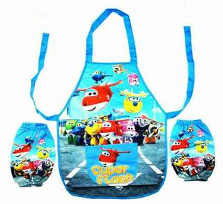 Cute kids apron set (super wing plane)