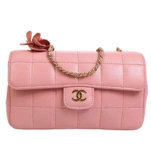 Chanel 粉紅色chain bag (極新淨)