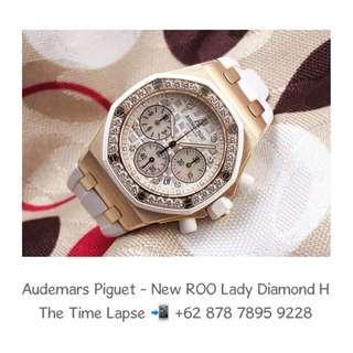 Audemars Piguet - New ROO Lady White Diamond 18K Rose Gold 'H'