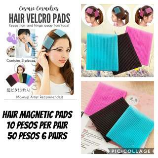 Hair magnetic pads