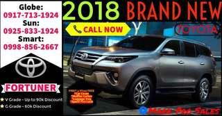 2018 Toyota Fortuner V G 2.4L AT Brand New 85k DP Only