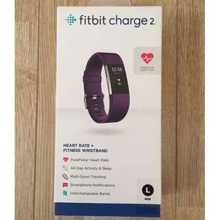 [REDUCED][BNIB] FitBit Charge 2 - Plum/Purple (Large)