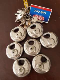 ABUS Diskus Lock 25/70 - 7 piece set