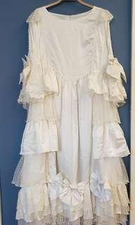 象牙米白色宮廷裙