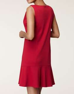 Hanes Signature Women`s Ponte Zoie Dress (L/XL, Scarlet)