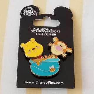 迪士尼Q版 Winnie the Pooh 襟章