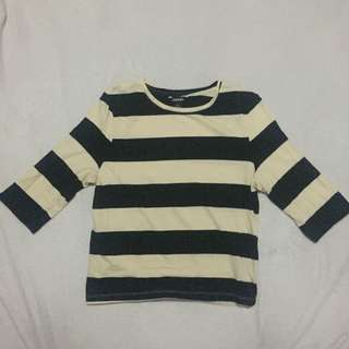 Monki Stripe 3/4 Top