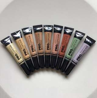 L.A. Girl PRO conceal HD High Definition Concealer LA Girl Orange Peach Yellow Green Beige