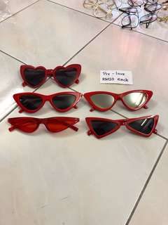 Red Frame Sunglasses