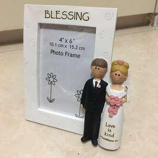 """全新 4x6"""" 4R 座台 相架 相框 結婚 婚禮 佈置 wedding photo frame"""