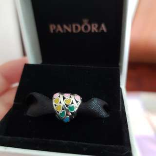 Pandora Multicolour Hearts Charm