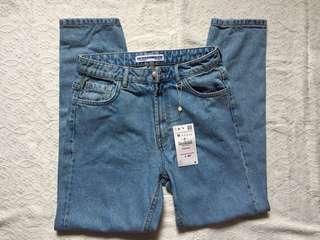 ZARA Classic High Rise Mom Jeans