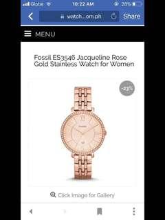 Fossil ES3546 Jacqueline Rosegold