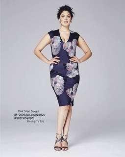 PLUS SIZE DRESS 💋3D Floral Plus Size Dress 💫Blend cotton, thick stretch 💫Full 3D Floral print 💫Back split hem 💫Free size fits up to XXL 💫Single color 💫Good quality  Price : 390