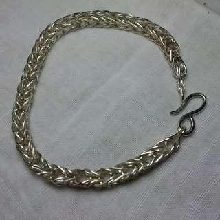 Unisex Foxtail 999 Silver Bracelet