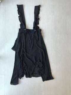 Chiffon Overall Mid Length Skirt