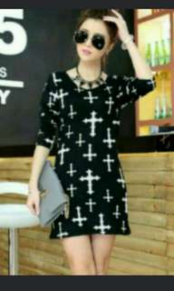Black knitted cross pullover dress *Brand new *pm if int