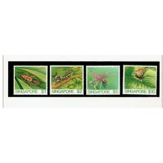 High Value Definitives INSECTS  10   - Cricket; Grasshopper; Dragonfly & Longhorned Grasshopper