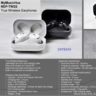 Nakamichi NEP-TW2S  MyMusicHue 真無線藍芽耳機 💖 全新行貨,保用6個月,地鐵站交收