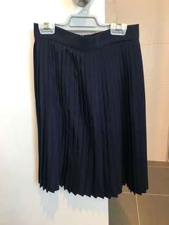 American Apparel Navy above knee pleated skirt - XS/6