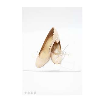CHLOE LAUREN PUMP 杏色柒皮 高跟鞋 (Size EUR 37)