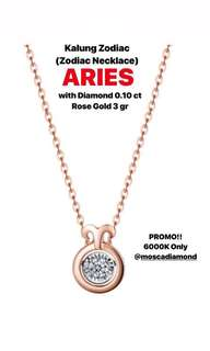 Kalung Berlian Zodiac ARIES (Diamond Zodiac Necklace)