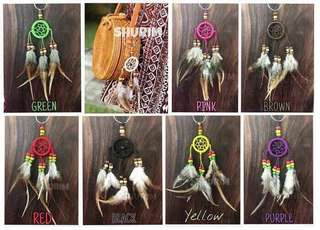 Rattan Bag Charm - Dreamcatcher