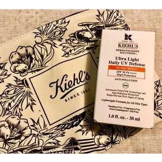 KIEHL'S 全新升級防曬方案 - 醫學全效抗污染輕柔防曬乳SPF50 PA++++ (原價HKD $325) 送化裝袋乙個