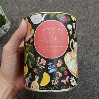 Brand New Crabtree & Evelyn London Afternoon Tea Tea Bags x15