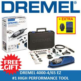 [ FREE GIFT ] DREMEL 4000 High Performance Rotary Tool Grinder