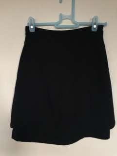 Cue black work skirt
