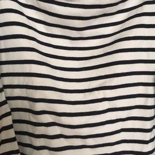 Muji Striped 3/4 sleeve Top (Japan)