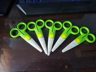 Children Green Scissors