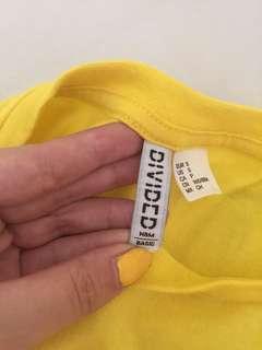 H&m kaos kuning