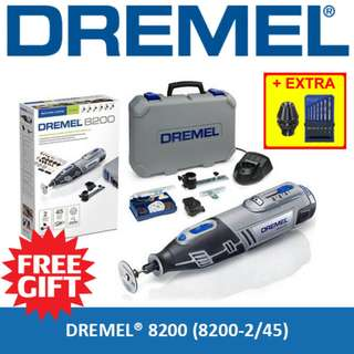 [ FREE GIFT ] DREMEL 8200 Cordless Rotary Tool Grinder