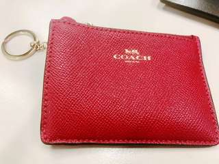 "90% New Coach Card Holder ""Red"""