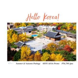 Hello Korea! 4D3N All-In Promo