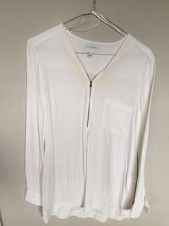 Witchery white long sleeve top