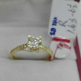 ( size: 6.5 ) 18K SAUDI GOLD RINGS .''