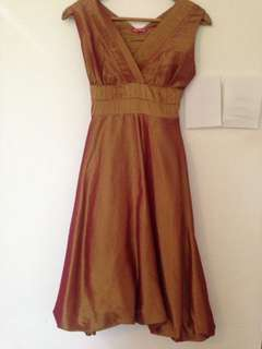Gold Semi Formal Dress
