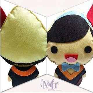 Handmade 不織布畢業袍Q版公仔 (Stock# : MYH503)