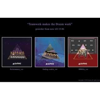 [MY GO] TEAMWORK MAKES THE DREAM WORK - BTS OT7 ENAMEL PIN BY @dvpins
