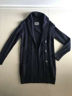 Vero Moda Toggle Button Detail Shawl Collar Cardigan Navy Size XS