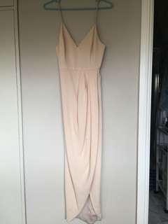 Shona Joy size 6 cream coloured evening dress