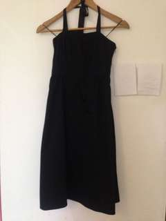 Old Navy Black Halter Dress