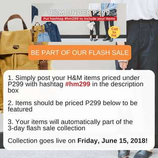 Call to List: H&M Under P300