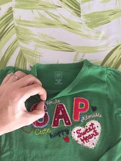 Authentic GAP long sleeve top green