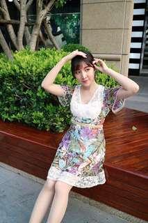 🚚 日牌KOOKS & SHELIKA細緻蕾絲印花洋裝
